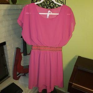 Alya sheer dress w/embroidered beltline, size M